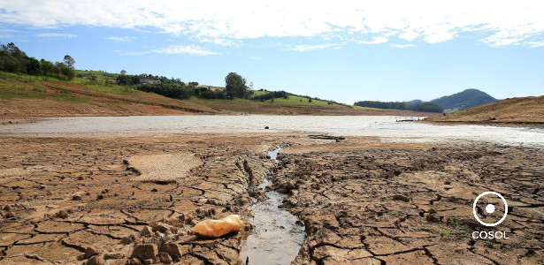 Represa Jaguari-Jacareí, em Bragança Paulista, na divisa entre São Paulo e Minas Gerais. (Créditos de imagem: UOL)