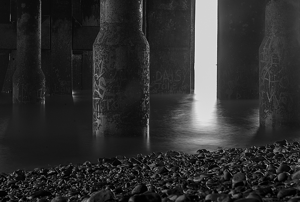 30 Second exposure under Penarth pier ... processed in Alien Skin Exposure 7.