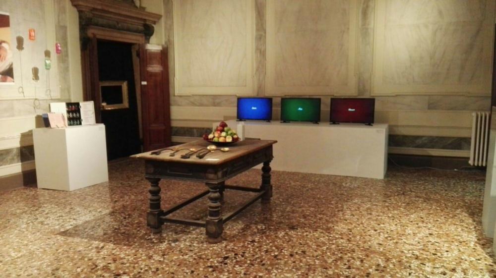 The installation at Palazzo Michiel, Venice