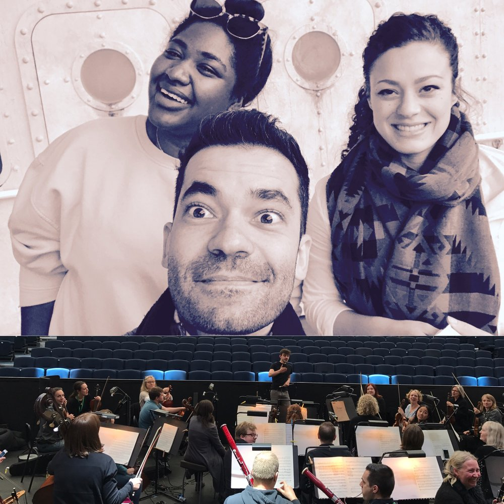 At the day of our Sitzprobe with the wonderful Julia Hamon (Donna Anna) and Nardus Williams (Donna Elvira)