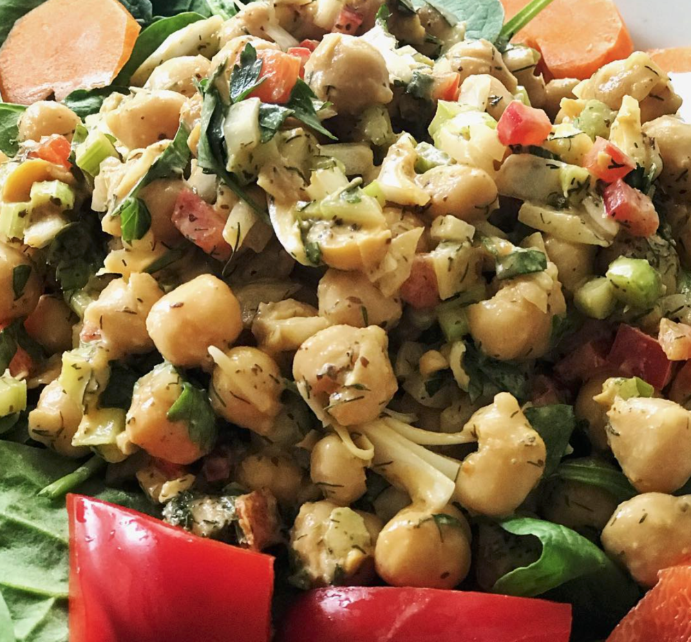 Vegan Garbanzo Sea Salad