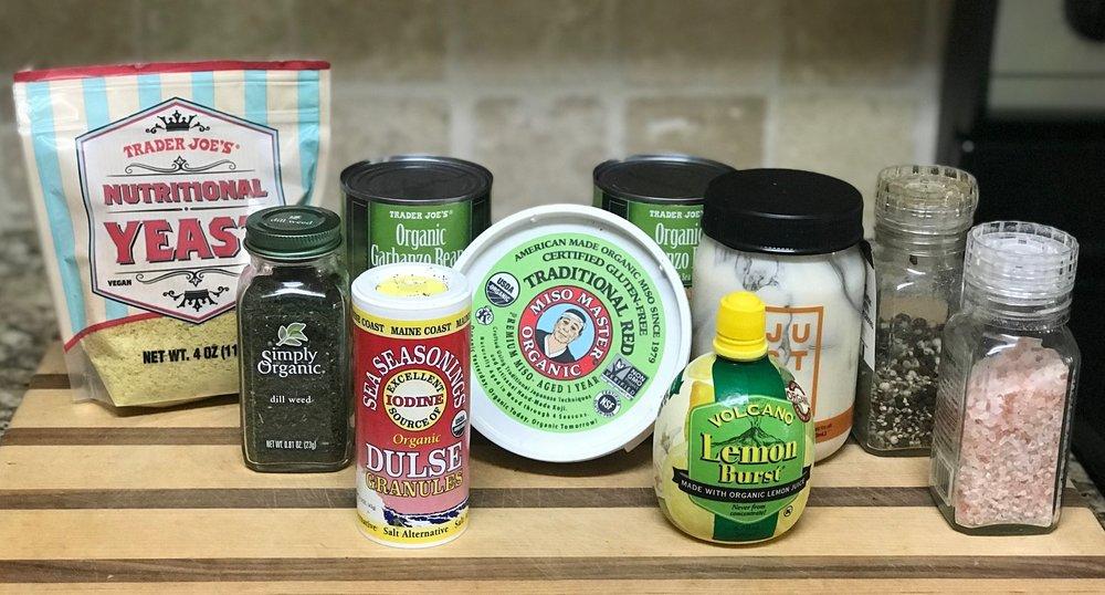 Garbanzo Sea Salad ingredients