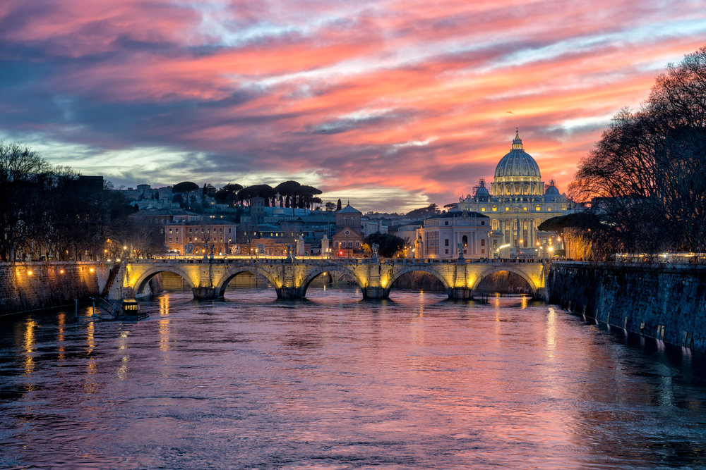 St. Angelo Bridge and St. Peter's Basilica from Ponte Umberto 18-2-Edit (1).jpg
