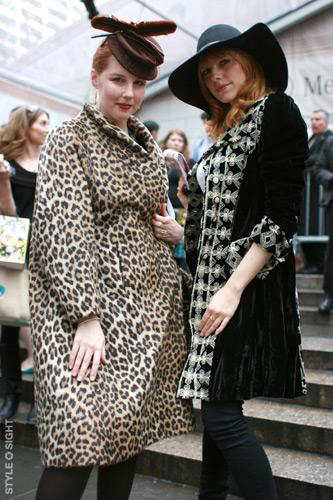 Christina Caruso and Jennifer Brandt Taylor at Mercedes Benz Fashion Week