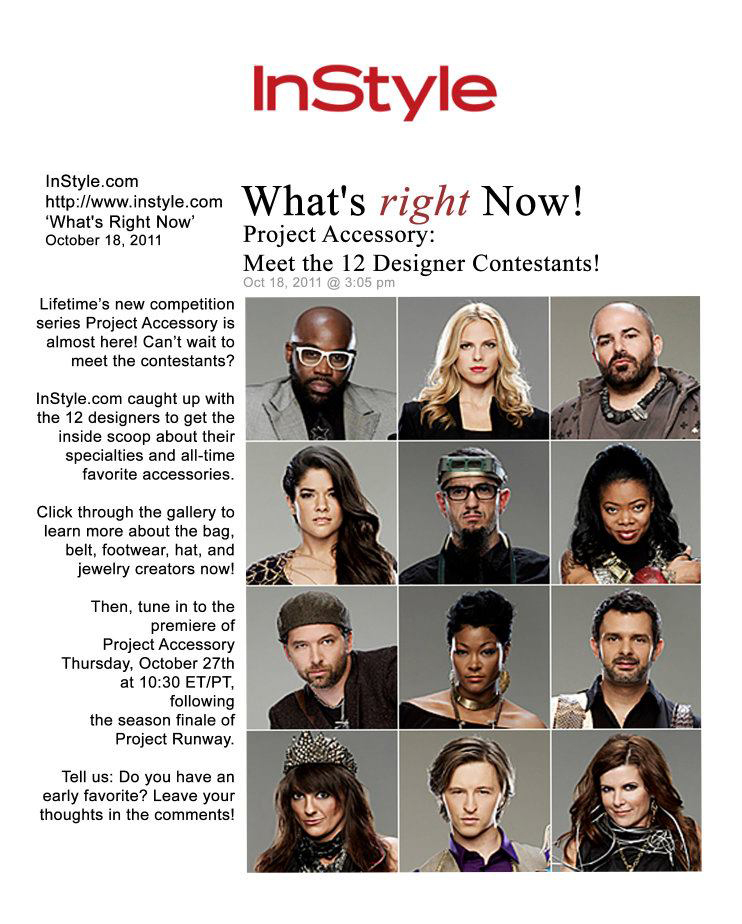 InStyle.com Feature On Lifetime's Project Accessory Designers