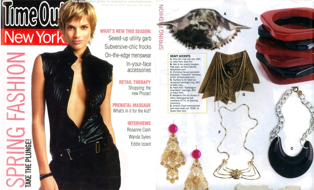 Christina Caruso Jewelry Design Featured In Time Out New York Magazine