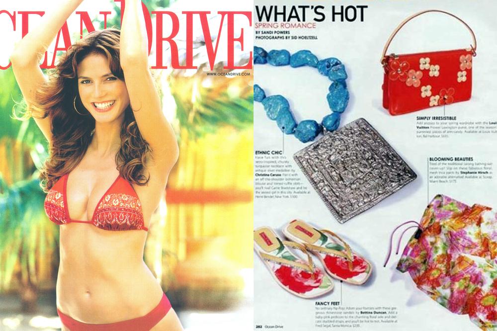 Christina Caruso Jewelry Design Featured In Ocean Drive Magazine