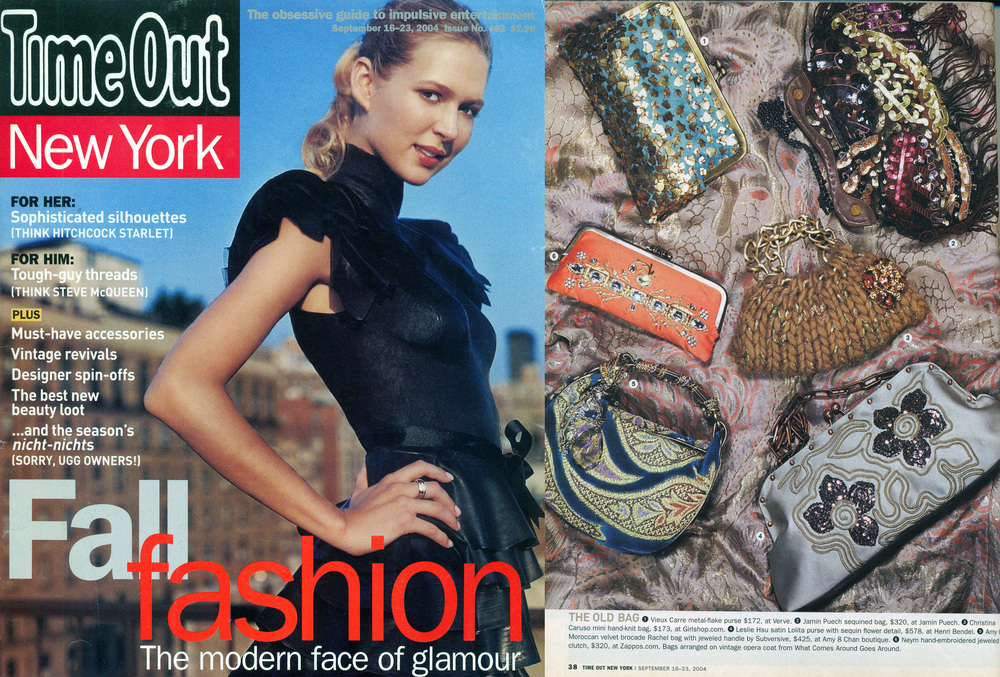 Christina Caruso Accessory Design Featured In Time Out New York Magazine