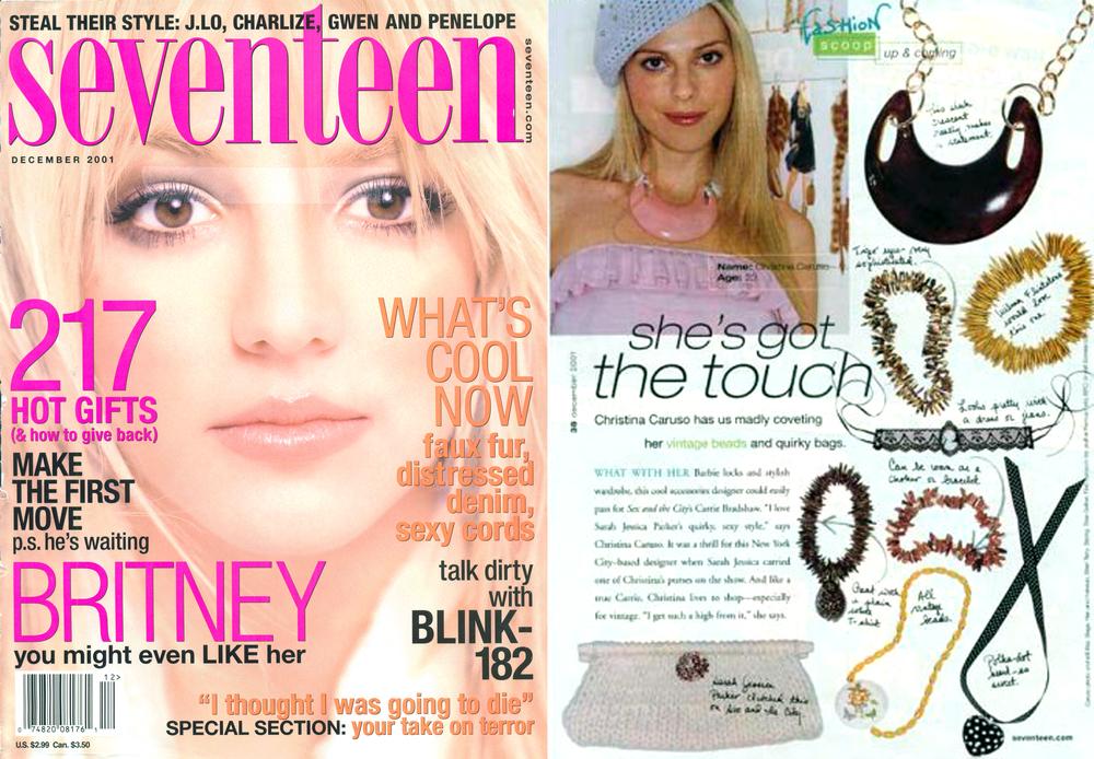Christina Caruso Featured Designer In Seventeen Magazine