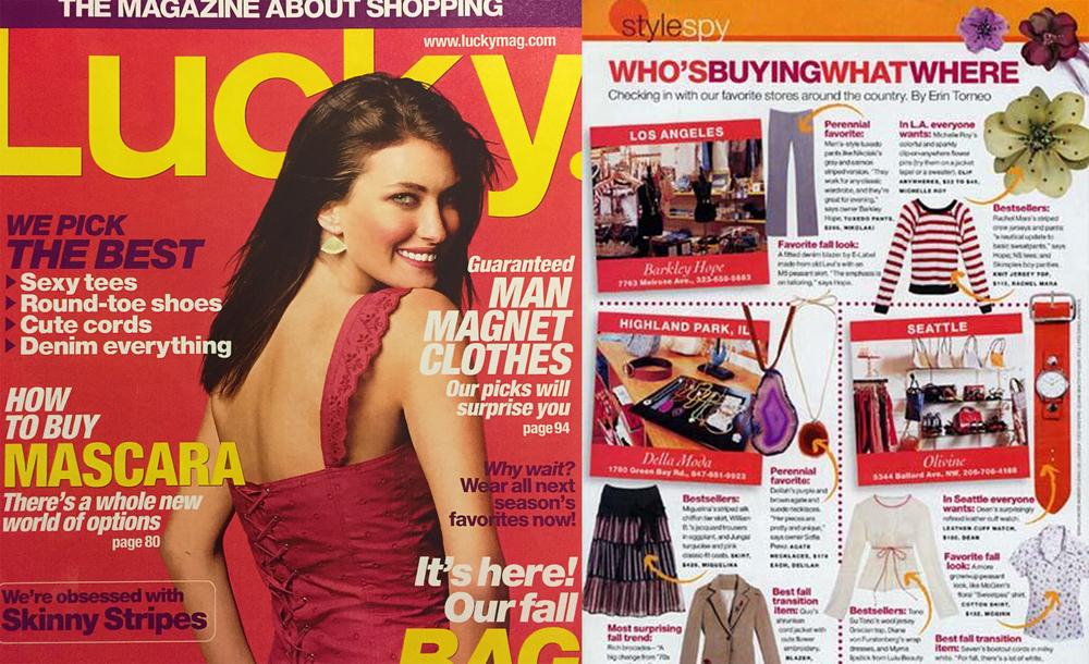 Christina Caruso Jewelry Design Featured In Lucky Magazine