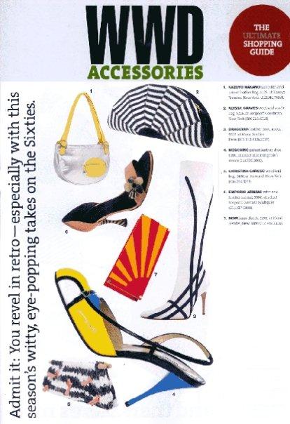 Christina Caruso Accessory Design Featured In WWD Magazine