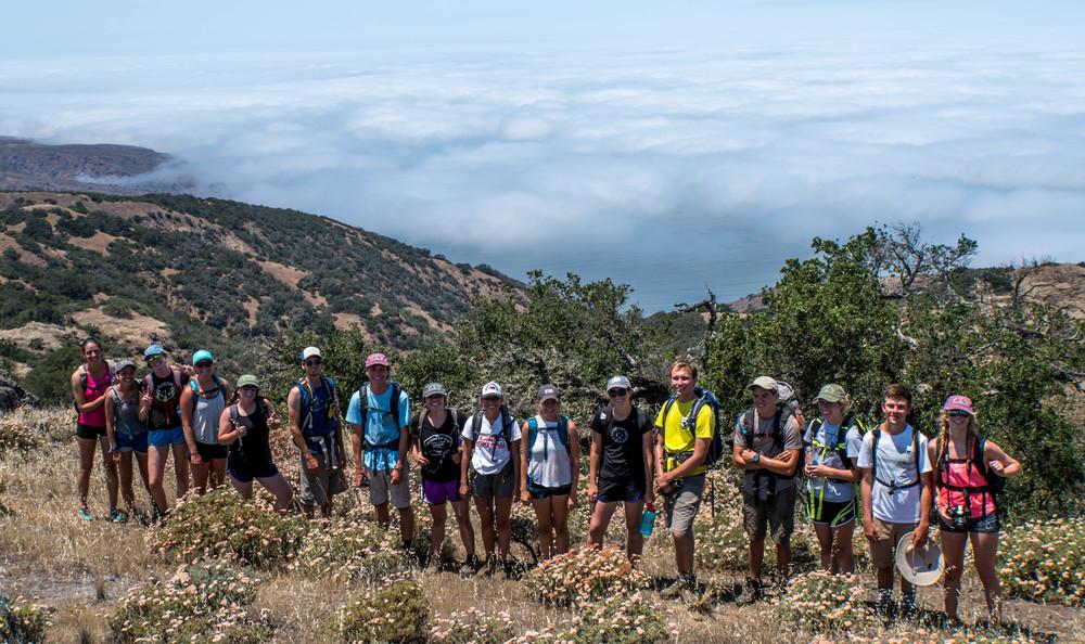 Smiles say it all. El Diablo Peak,Santa Cruz Island, CA.