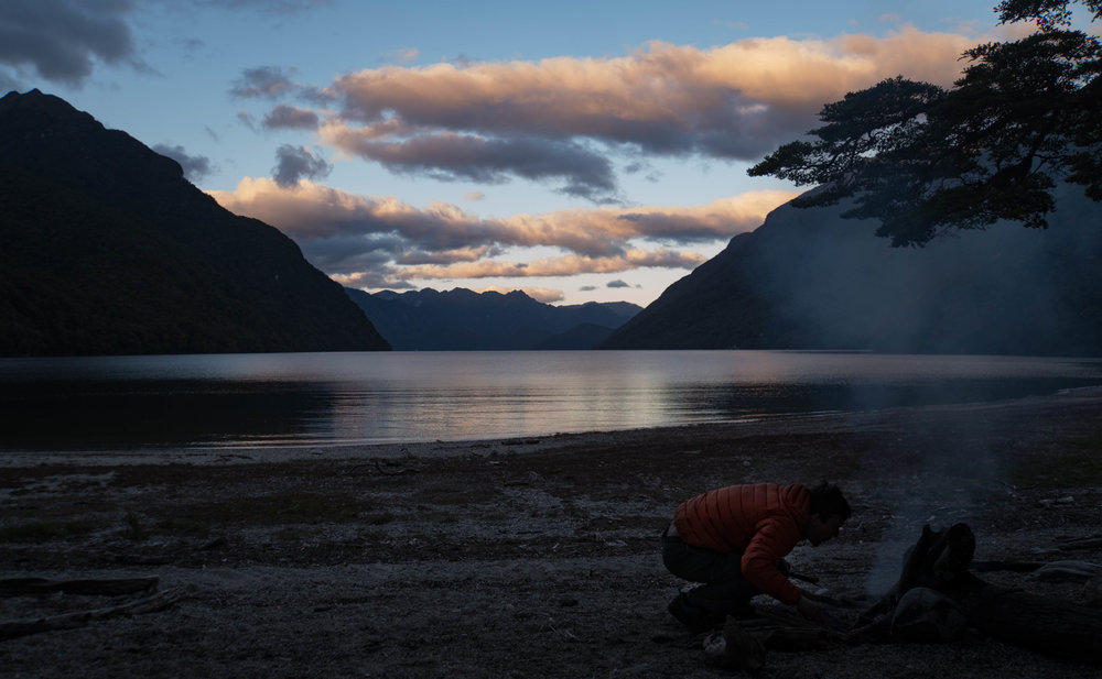 Deep in Fiordland. Lake Manapouri, NZ.