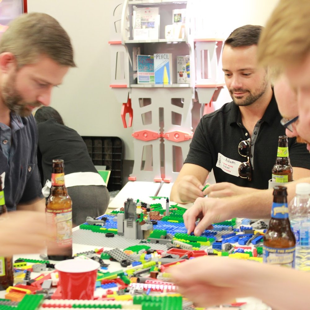 LEGO + LOCAL BREW TAKE ON MODA'S LEGO DESIGN CHALLENGE WHILE SIPPING LOCAL ATLANTA BREW.