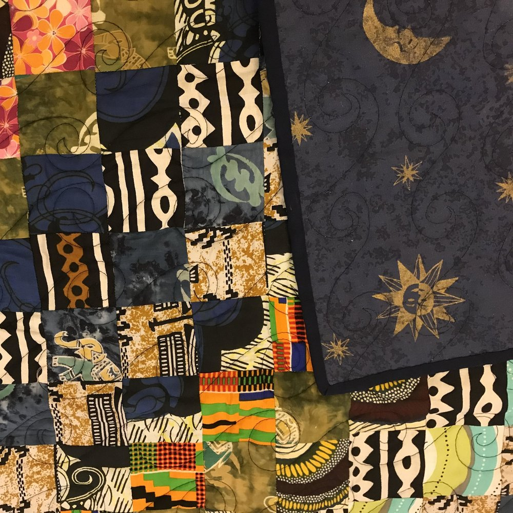 The quilt made by Kay