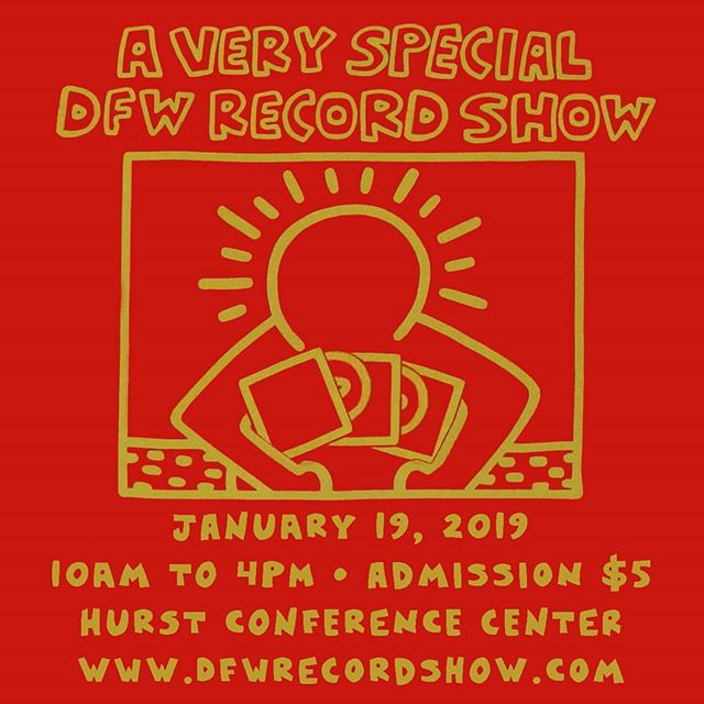 The next DFW Record Show is Saturday, January 19, 2019 at the @hurstconferencecenter in Hurst, TX.  Show hours are 10am to 5pm. Tickets are $5, and kids 14 and under get in free.  #recordshow #vinylrecords #recordcollector #vinyljunkie #vinyl #records
