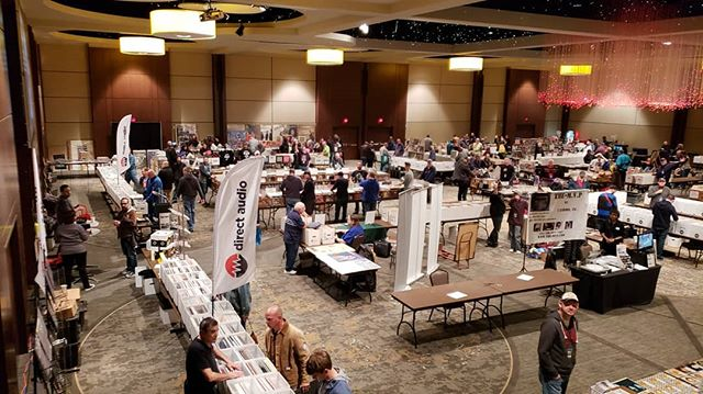 Things are hopping at the #dfwrecordshow. Come on out! We close up at 4pm. #records #vinyl #recordshow