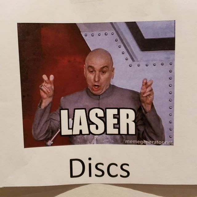"We even have ""laser"" discs here. #dfwrecordshow #laserdiscs #recordshow #records #vinyl"