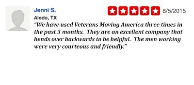 Veterans Moving America 5-star review