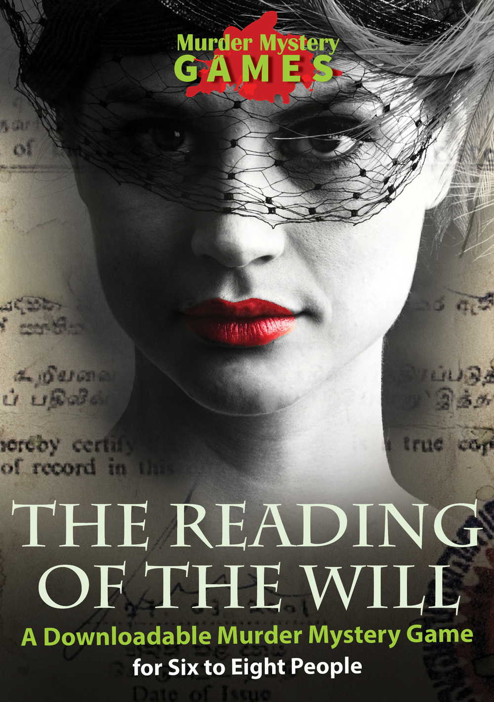 The Reading of The Will - A Downloadable, traditional Murder Mystery Game for Six to Eight People
