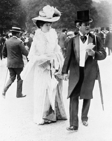 Edwardian gentleman and lady