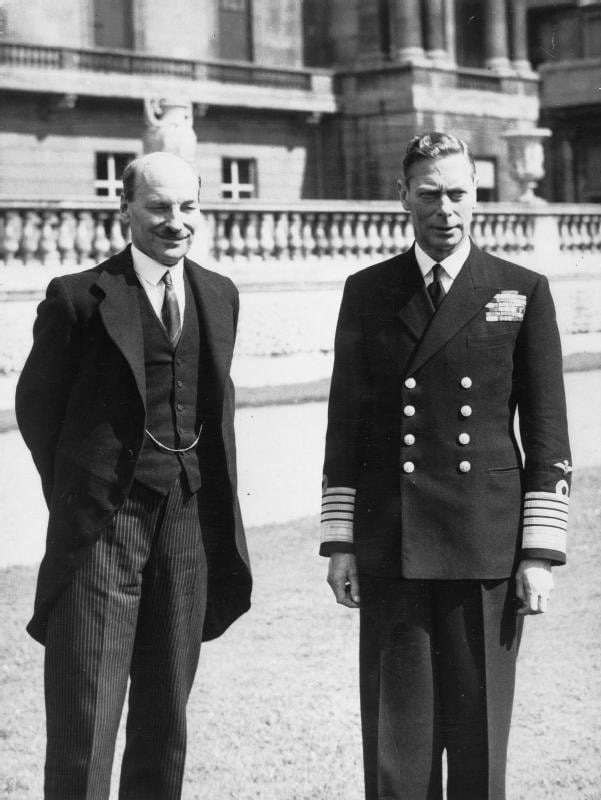 1940s His Majesty with the Prime Minister