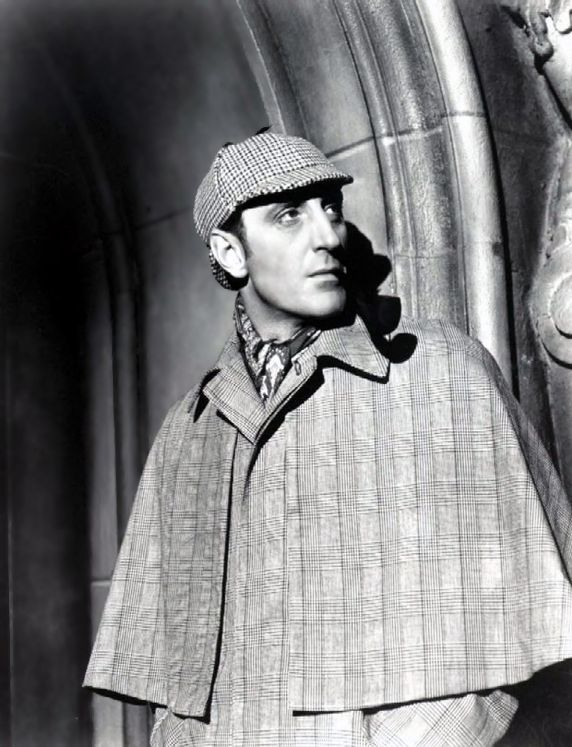 Basil Rathbone as Sherlock Holmes  sc 1 st  Murder Mystery Games : 1950s detective costume - Germanpascual.Com