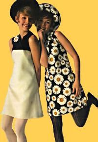 Seventies mini dresses