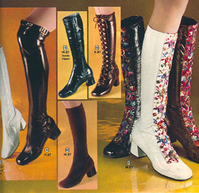 Seventies fashion boots