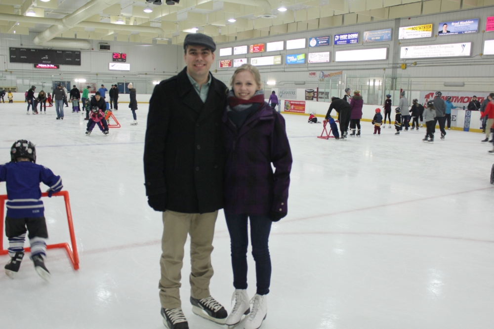 Highlander Law Group lawyer Matthew MacGillivray and fiance Sarah Blackstock enjoying the community holiday spirit.