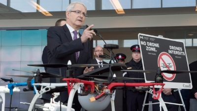 Marc Garneau, announced new rules for flying recreational drones, effective immediately
