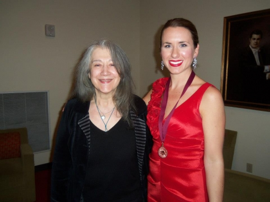with Martha Argerich at the USASU Bosendorfer International Piano Competition (January 2013)