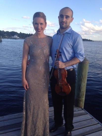 With violinist Igor Pikayzen (October 2014)
