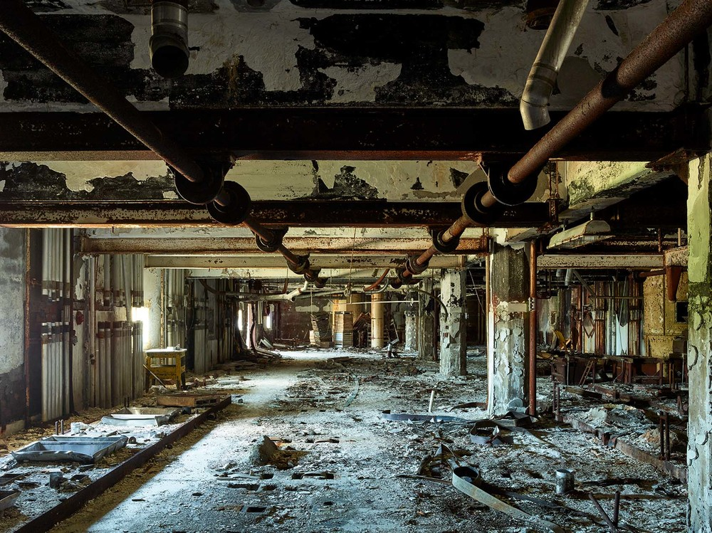Silo City rusty American Elevator room