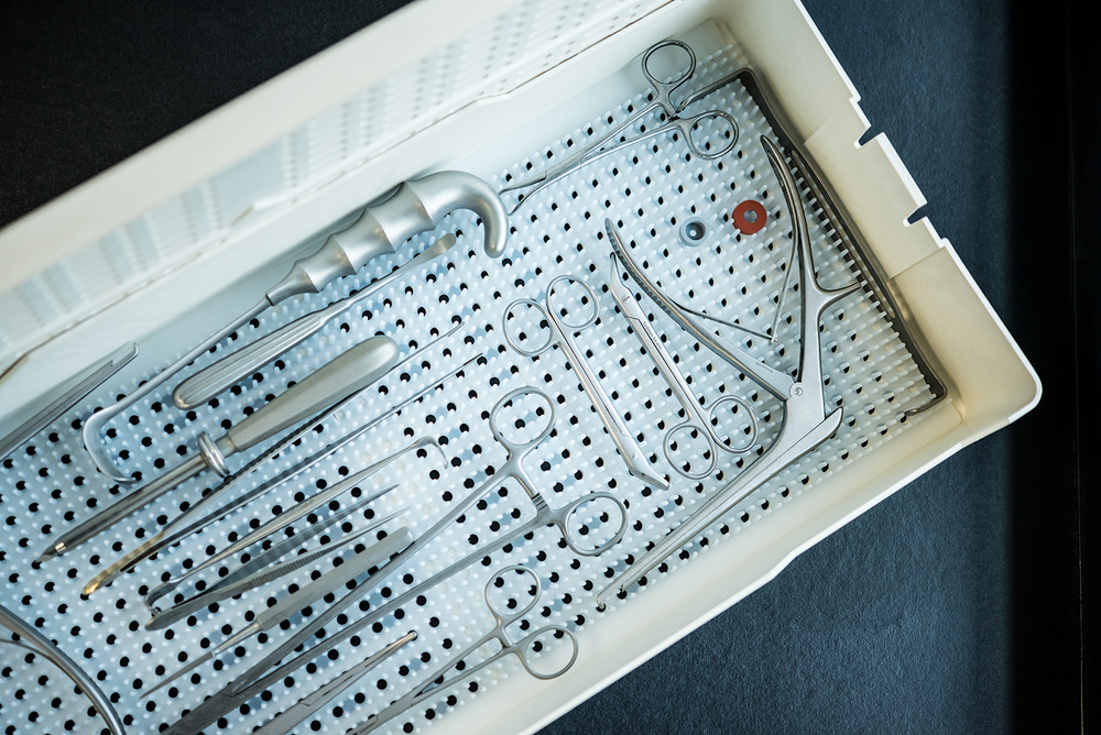 Medical laboratory tools in a box