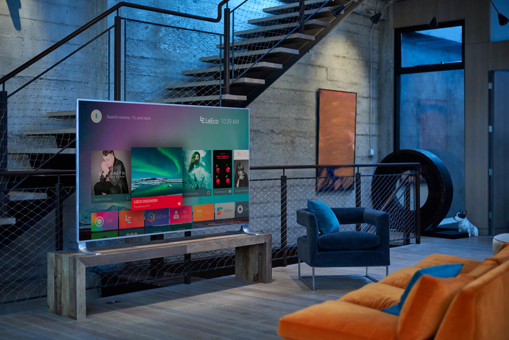 LeEco TV in a modern living room