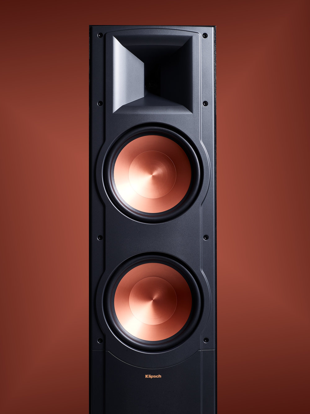 Klipsch Speaker on copper background