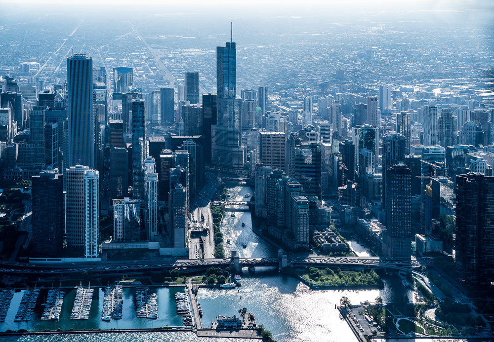 Aerial of Chicago Skyline