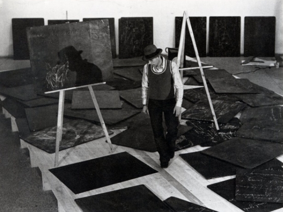 Joseph Beuys at  documenta 5 , 1972