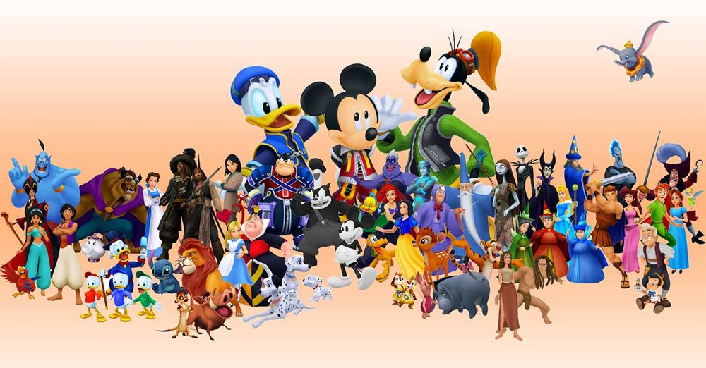 Photo source: https://www.disneyfanatic.com/wp-content/uploads/2016/06/DisneyCharacters.jpg