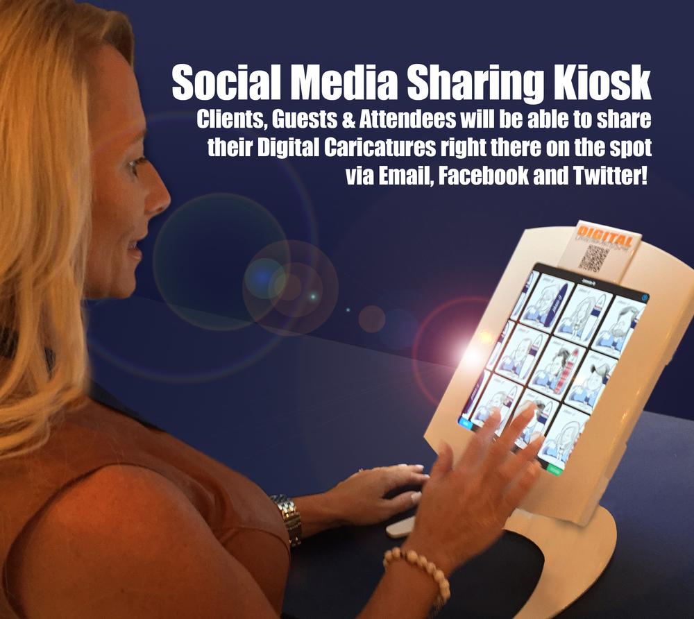Social media Sharing Kiosk