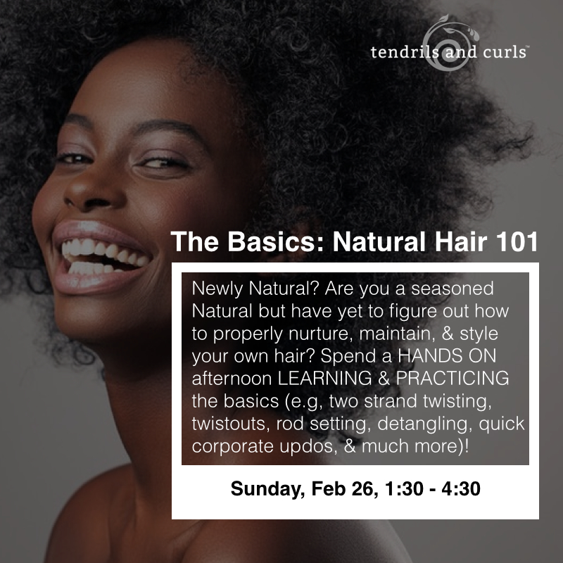 HANDS ON NATURAL HAIR 101 WORKSHOP