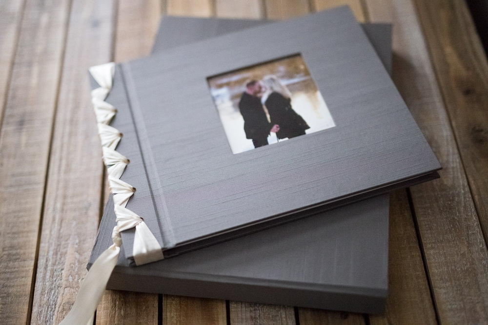 Ribbon bound 9x12 Luxury Fine Art Album and Keepsake Box