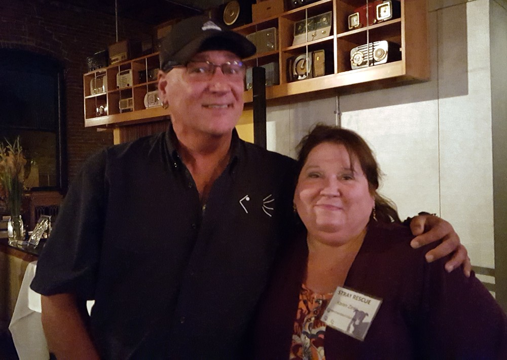 Karen Zinkl with Randy Grim, founder of Stray Rescue of St. Louis.