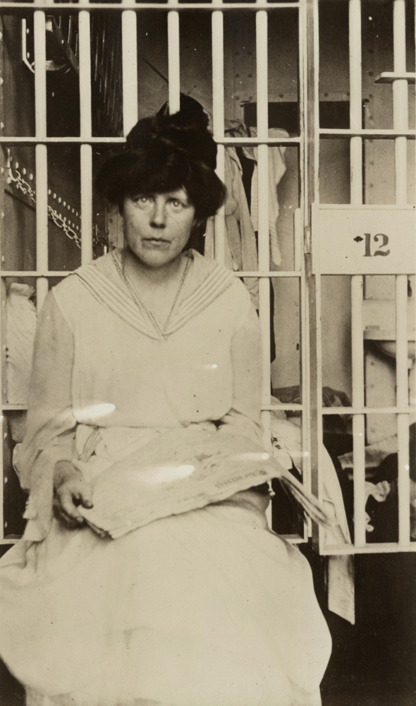 Lucy Burns in Occoquan Workhouse. Library of Congress.