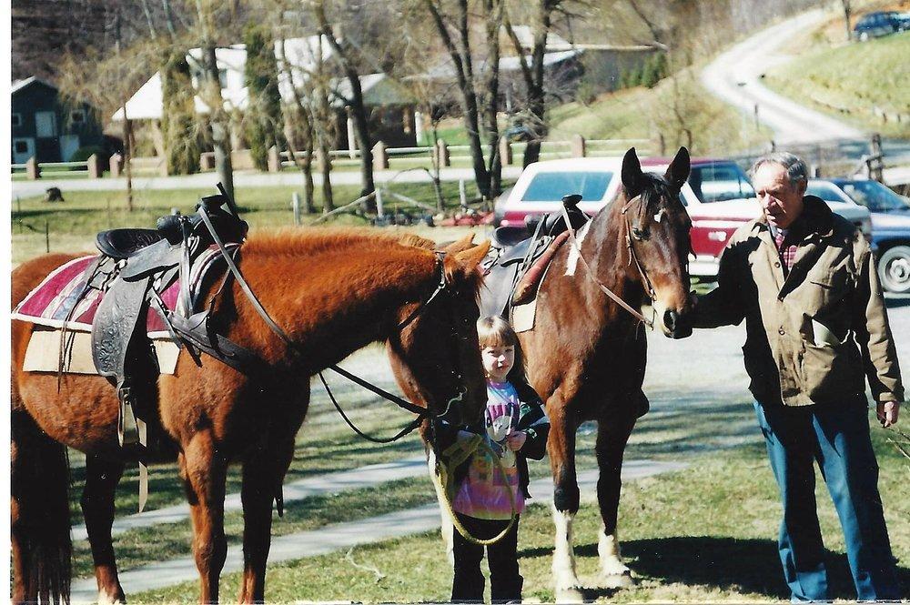 Papa, girls and horses.jpg