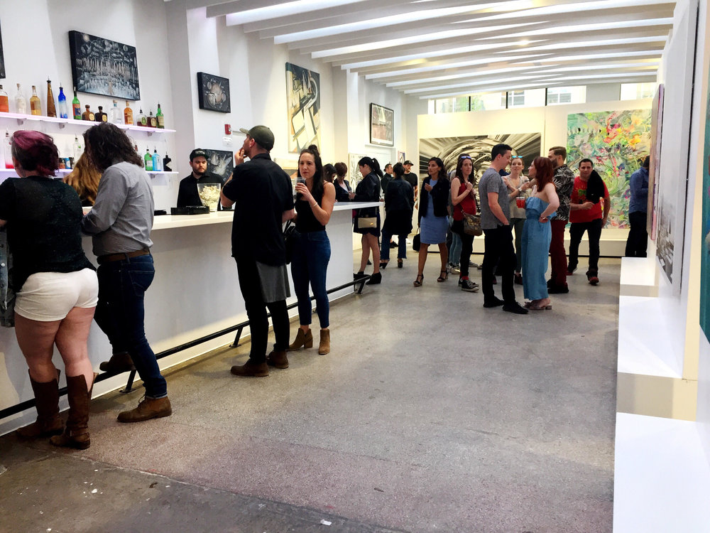 Bar at the Mirus Gallery Opening