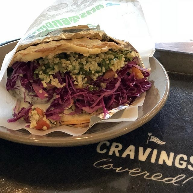 Craving covered with a mouthwatering falafel sandwich! 📷 : @effervescentmind . . . #FlagshipCommons #FoodHall #EatAFK #WestroadsMall #Omaha