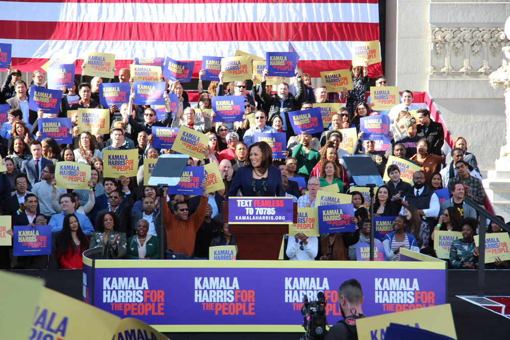 Sen. Kamala Harris officially launched her Presidential campaign today in Oakland, CA, U.S. She announced her decision to run for president on Martin Luther King Day, January 21, 2019. photo by Kathryn E. Styer/KGPC NEWS