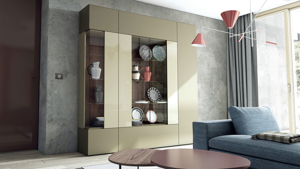 5_Витрина корпусная мебель Caccaro Zona living il Tempo Киев.jpg